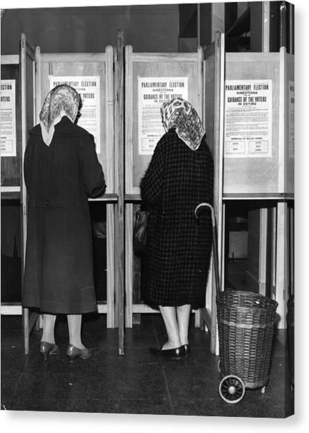 Polling Day Canvas Print by Keystone