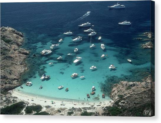 Porto Rotondo Canvas Print by Slim Aarons