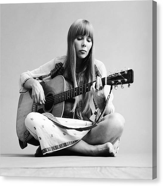 Portrait Of Joni Mitchell Canvas Print
