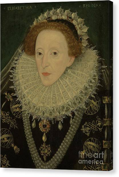 Celestial Sphere Canvas Print - Portrait Of Queen Elizabeth I by English School