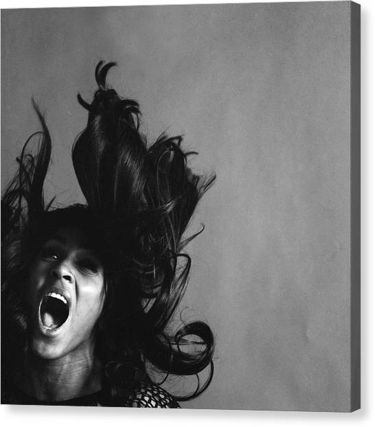 Portrait Of Tina Turner Canvas Print