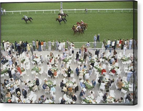 Racing At Baden-baden Canvas Print by Slim Aarons