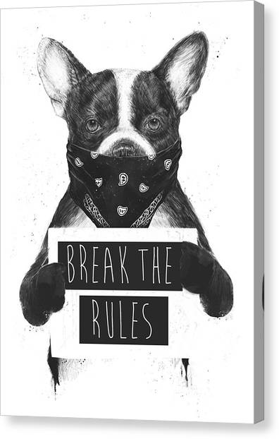 Bulldog Canvas Print - Rebel Dog II by Balazs Solti