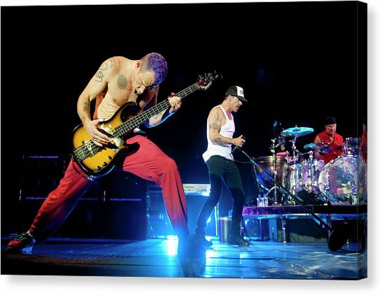 Red Hot Chili Peppers Perform At O2 Canvas Print