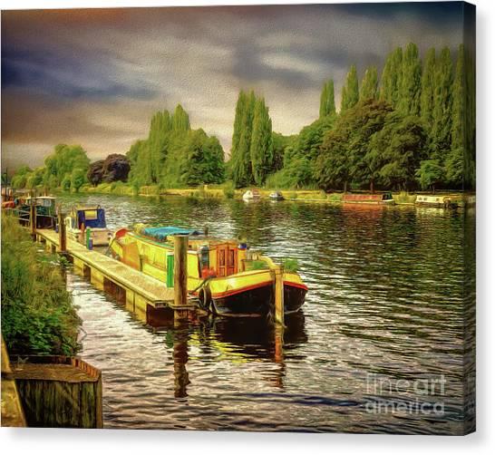 River Work Canvas Print