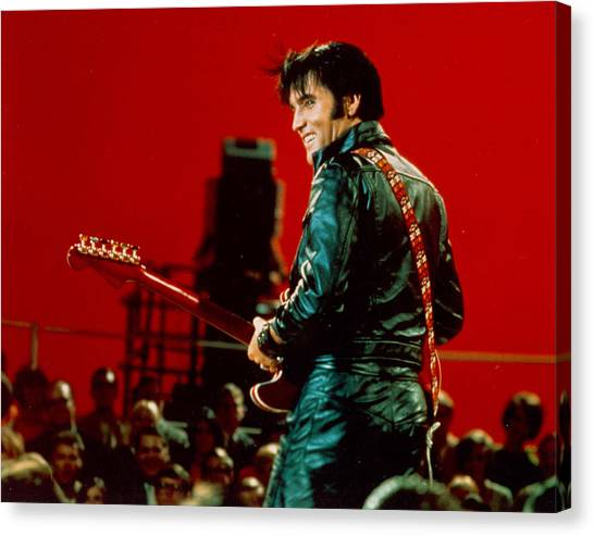 Rock And Roll Musician Elvis Presley Canvas Print by Michael Ochs Archives