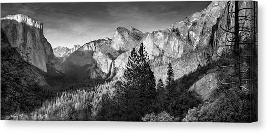 Bridal Canvas Print - Rocky Mountains Overlooking Rural by Chris Clor
