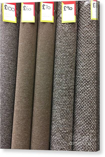 Canvas Print - Rolls Of New Carpet by Tom Gowanlock