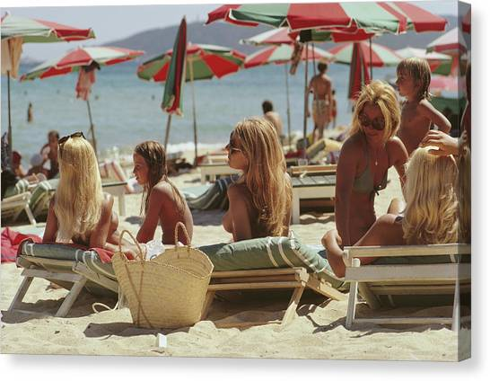 Saint-tropez Beach Canvas Print