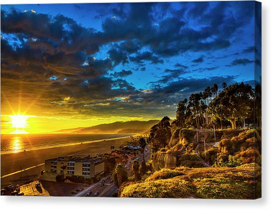 Santa Monica Bay Sunset - 10.1.18 # 1 Canvas Print