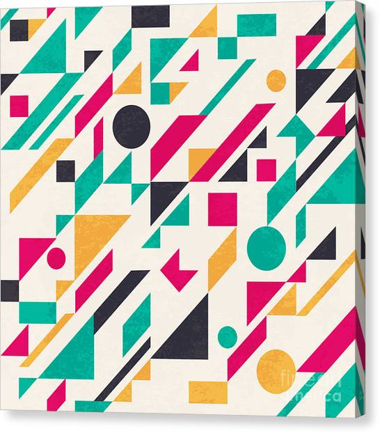 Form Canvas Print - Seamless Abstract Pattern With by Magnia
