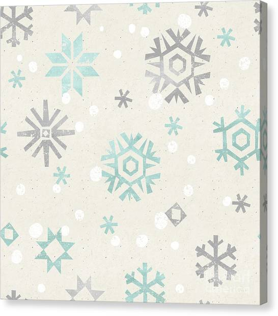 Happy Canvas Print - Seamless Christmas Pattern On Paper by Irtsya