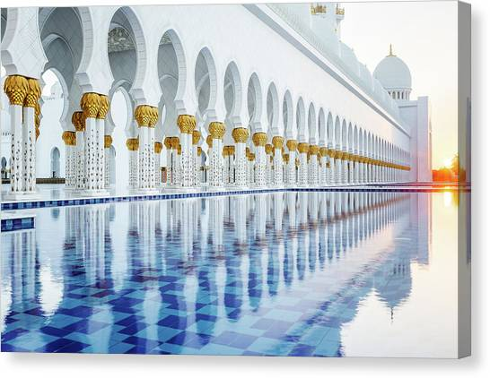 Sheikh Zayed Grand Mosque Canvas Print