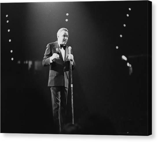 Sinatra On Stage Canvas Print by David Redfern