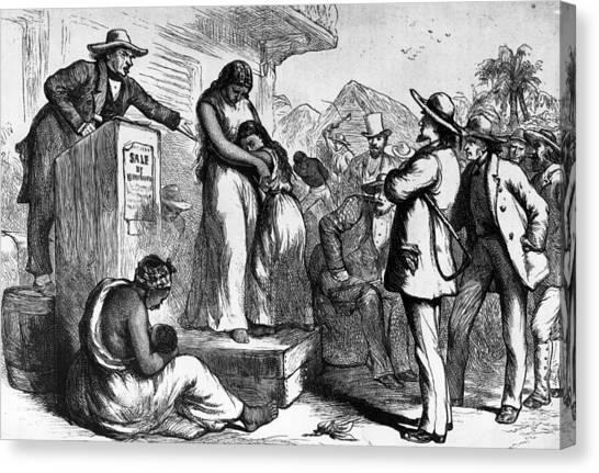 Slave Auction Canvas Print by Rischgitz