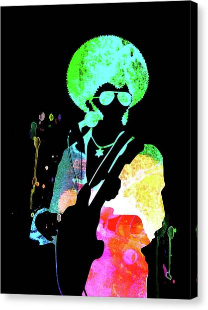 Sly Canvas Print -  Sly And The Family Stone Watercolor  by Naxart Studio
