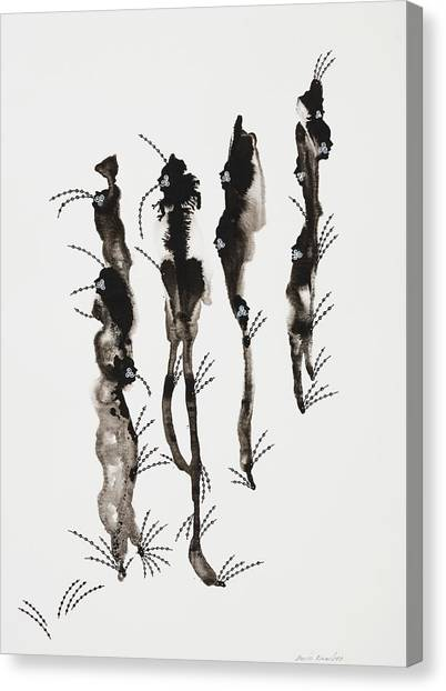 Snoopers Series, 2006 Ink On Paper Canvas Print