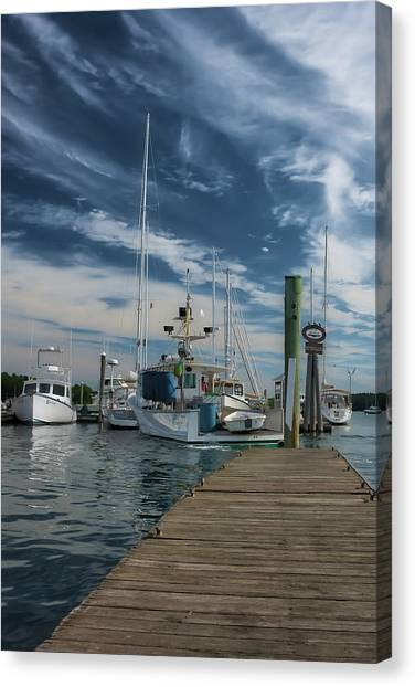 Canvas Print featuring the photograph South Freeport Pier  by Guy Whiteley