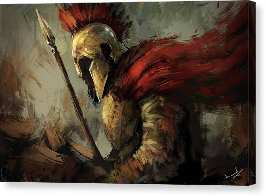 God Of War Canvas Print - Spartan by Imad Ud Din