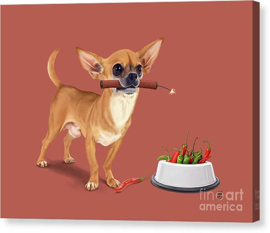 Canvas Print featuring the digital art Spicy by Rob Snow