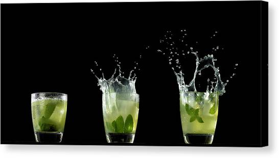 Splashed Cocktails Canvas Print