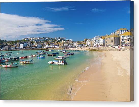St Ives Canvas Print - St Ives, Cornwall, England, Uk by Ben Pipe Photography