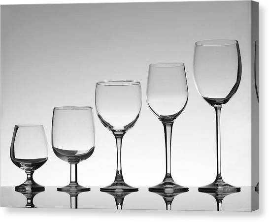 Stemware Canvas Print by Donald gruener