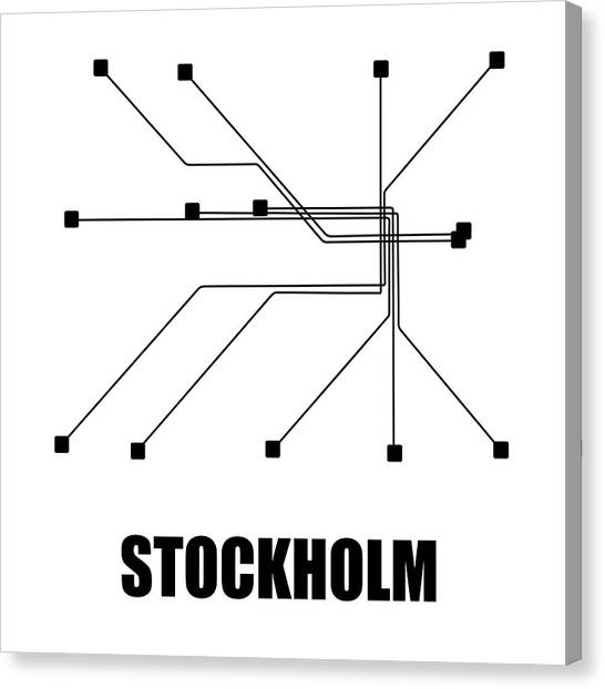 Sweden Subway Map.Sweden Map Canvas Prints Fine Art America