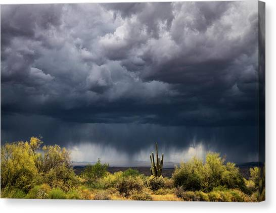 Canvas Print - Stormy Arizona Skies  by Saija Lehtonen