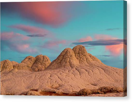 Stunning Clouds At Sunrise, Vermillion Canvas Print by Howie Garber