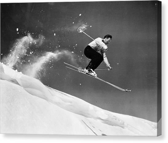 Sun Valley Skier Canvas Print by Keystone