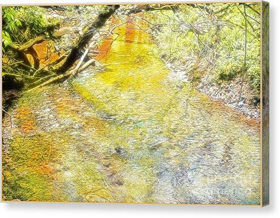Canvas Print - Sunlight On The Water by Mindy Newman