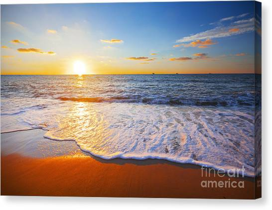 Atmosphere Canvas Print - Sunset And Sea by Ozerov Alexander
