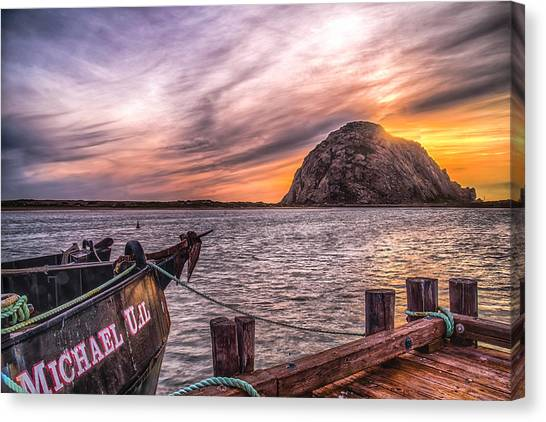 Sunset By The Bay Canvas Print by Fernando Margolles
