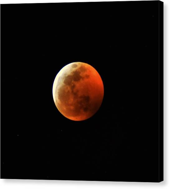 Super Blood Wolf Moon Canvas Print