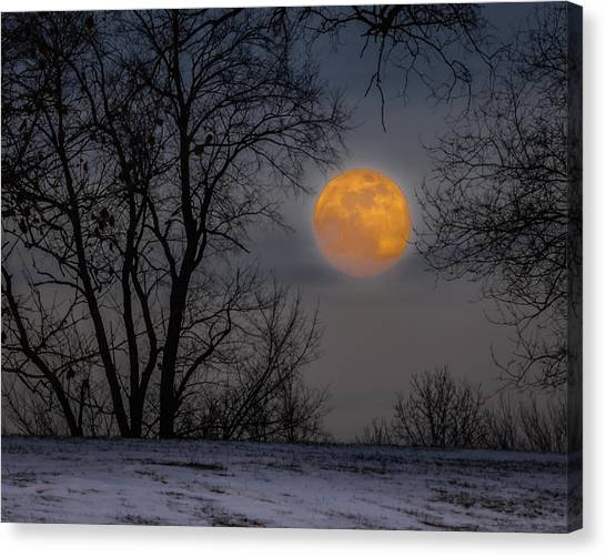 Super Blue Moon Rising 2 Canvas Print