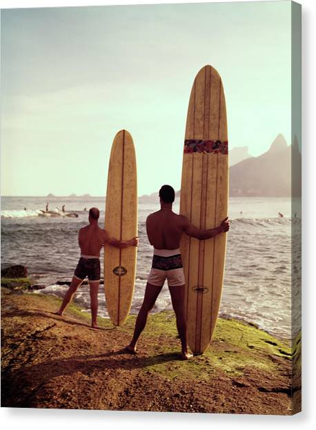 Surfboards Ready Canvas Print