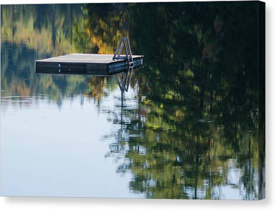 Swim Up To The Raft Canvas Print
