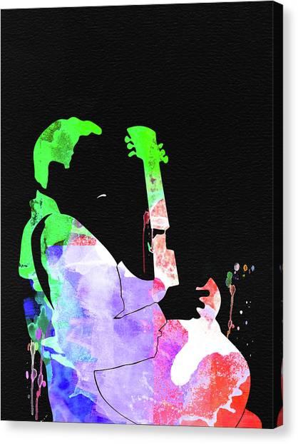 Bone Canvas Print - T-bone Walker Watercolor by Naxart Studio