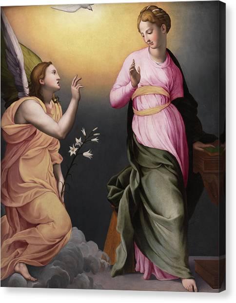 The Annunciation Canvas Print - The Annunciation by Bronzino