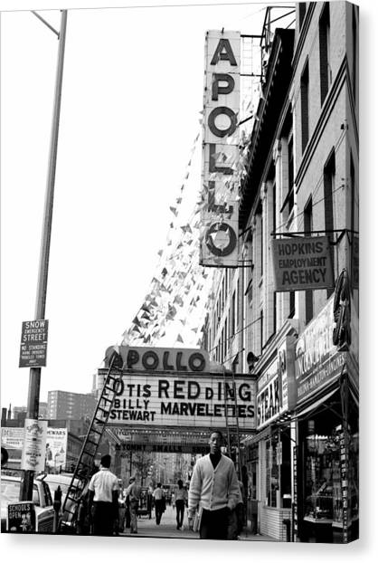 The Apollo Theater In Harlem. Otis Canvas Print