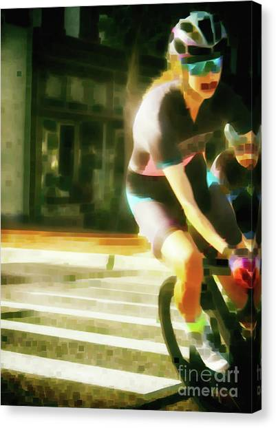 The Art Of Cycling  Canvas Print by Steven Digman