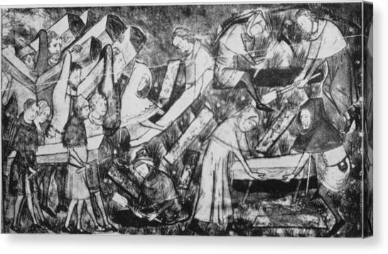 The Black Death Canvas Print by Hulton Archive