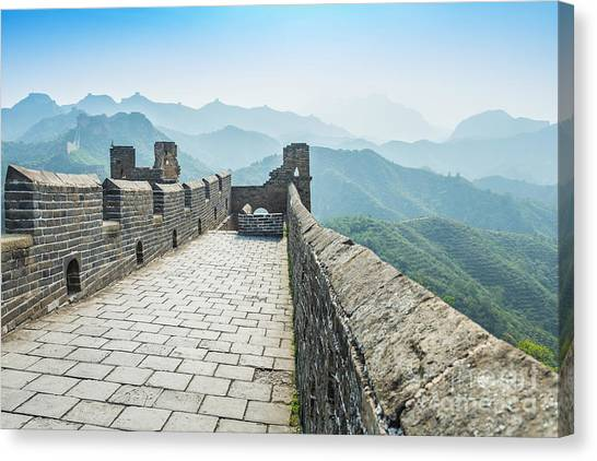 China Canvas Print - The Great Wall Of China by Aphotostory