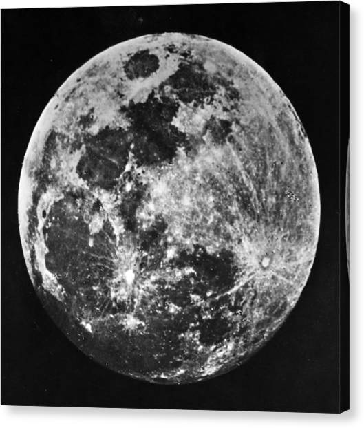 The Moon Canvas Print by J. W. Draper