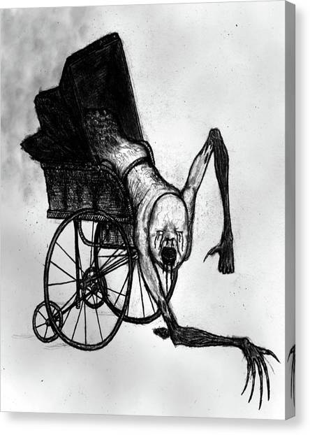 The Nightmare Carriage - Artwork Canvas Print