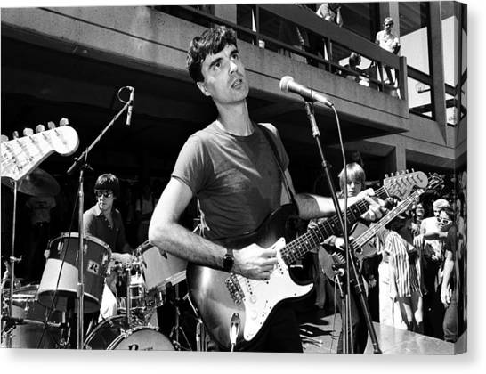 The Talking Heads Perform Live Canvas Print