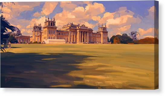The White Party Tent Along Blenheim Palace Canvas Print