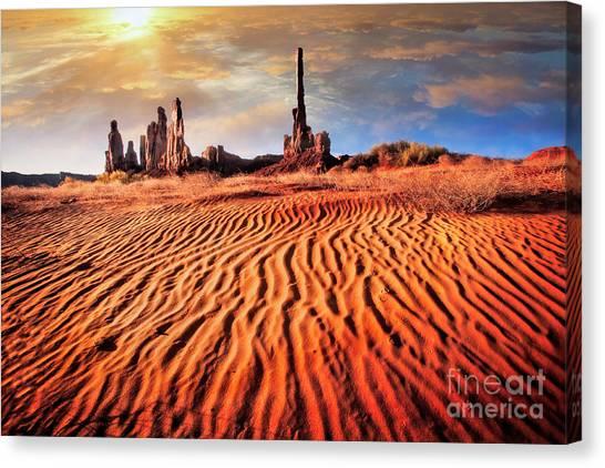Totem Dunes Canvas Print
