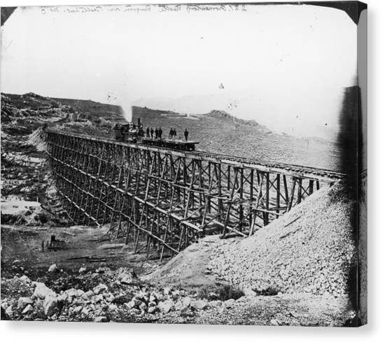 Transcontinental Railroad Canvas Print by Fotosearch